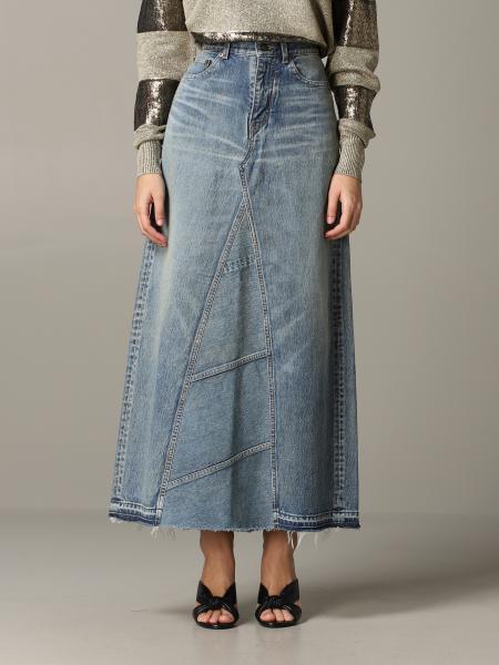 Jupe en jean Saint Laurent
