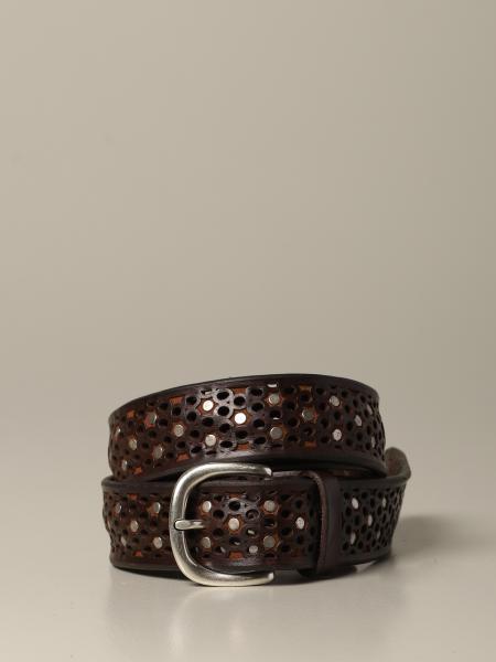 Cintura Orciani in pelle traforata con borchie