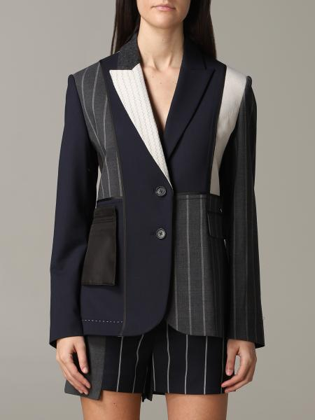 Monse single-breasted patchwork jacket