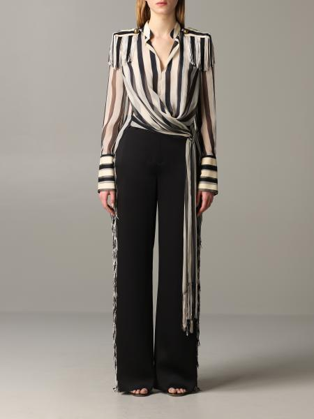 Monse striped shirt with fringes