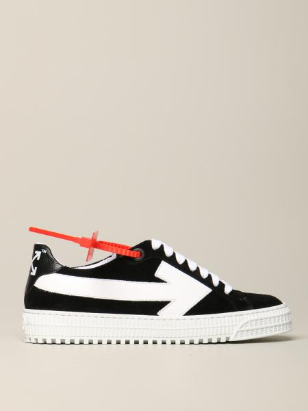 Sneakers Off White in camoscio e pelle