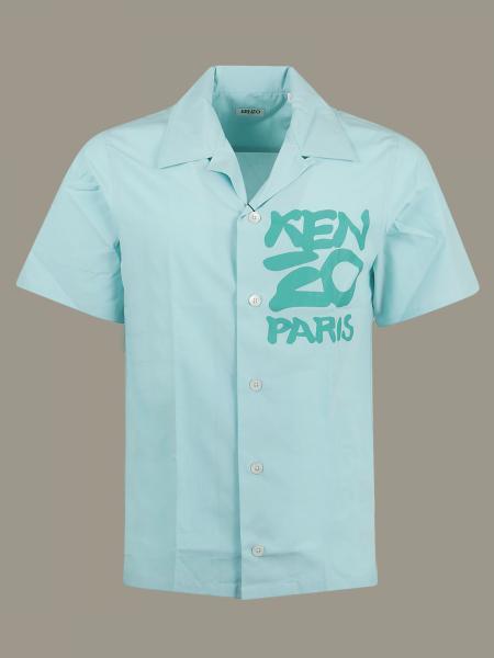 Camicia Kenzo a maniche corte con stampa logo