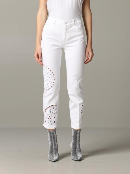 Jeans Dondup in denim con intagli
