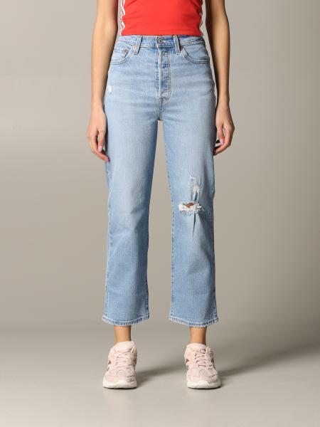Jeans jeans levi's a vita alta con rotture Levi's - Giglio.com