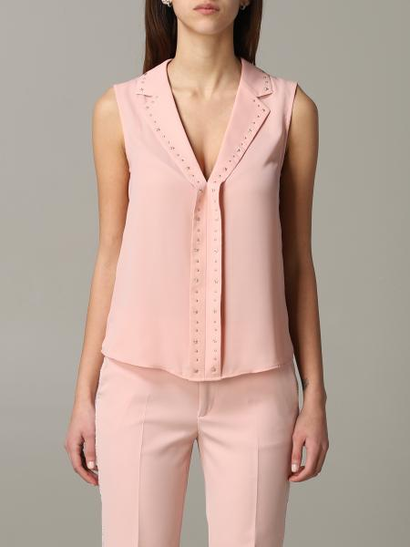 Liu Jo top with lapel collar and micro applications