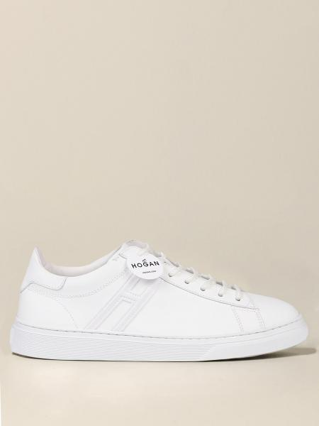 Hogan leather sneakers with elongated H