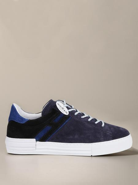 Hogan suede sneakers with elongated H
