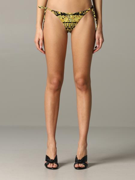 Versace swimsuit with baroque patterned laces