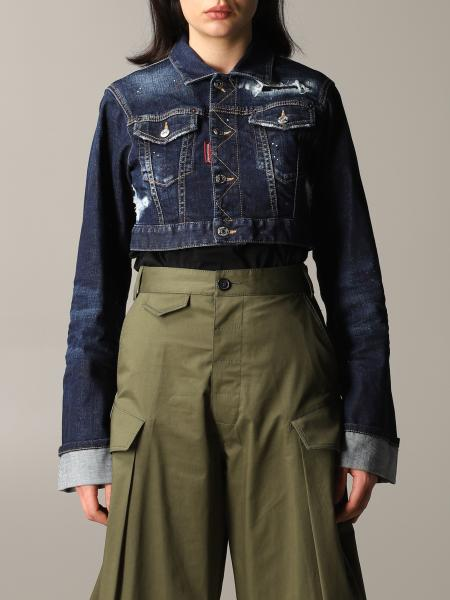Giacca di jeans Dsquared2 cropped