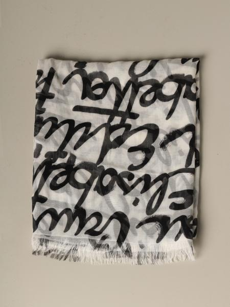 Elisabetta Franchi scarf with all over writing
