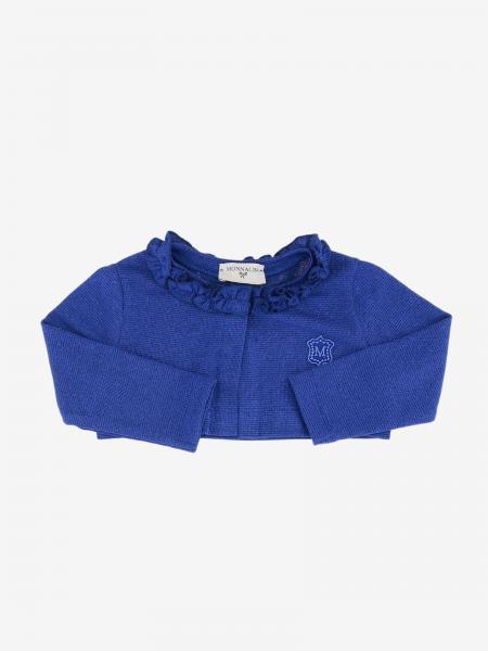 Monnalisa Bebe' logo 短款毛衣开衫