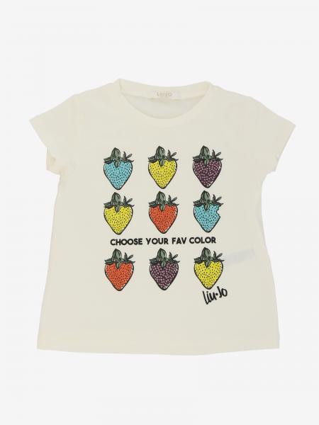 Liu Jo t-shirt with strawberries and rhinestones