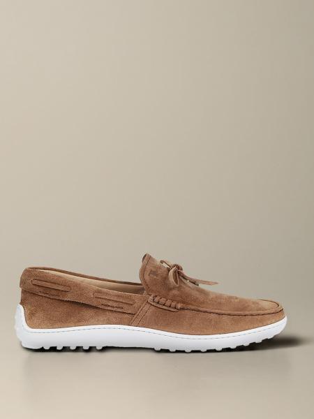 Tod's 系带绒面革乐福鞋
