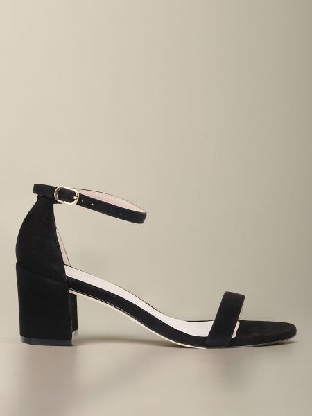 Sandalo Simple Stuart Weitzman in camoscio