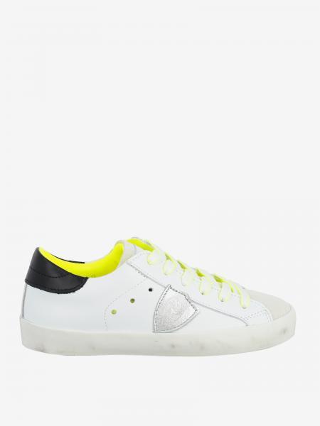 Sneakers Philippe Model in pelle e camoscio con logo