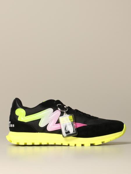 Sneakers Marc Jacobs in rete sfumata e camoscio