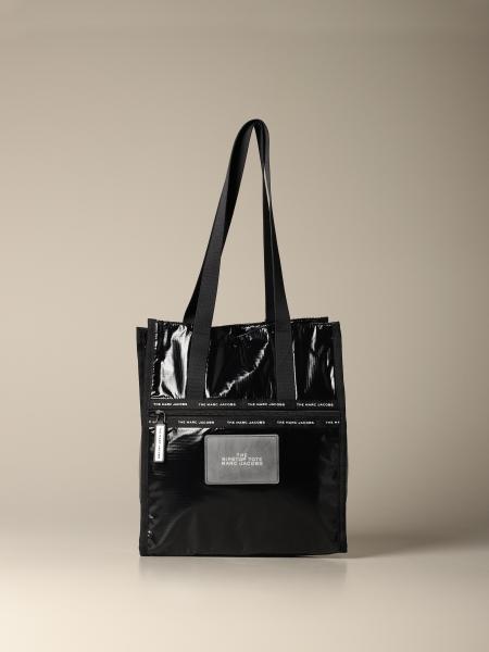 Marc Jacobs logo 金属感尼龙肩包