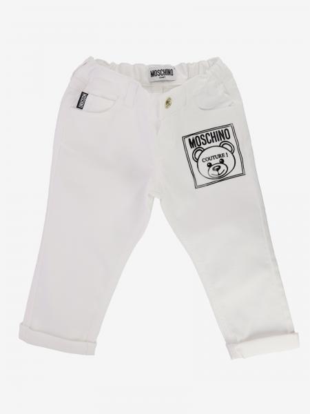 Moschino Baby 泰迪熊印花裤子