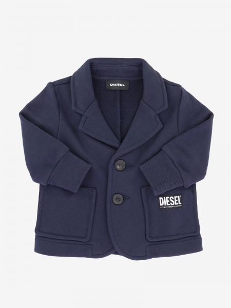 Diesel logo单排扣西服外套