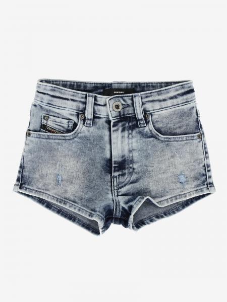 Pantaloncino di jeans Diesel a 5 tasche