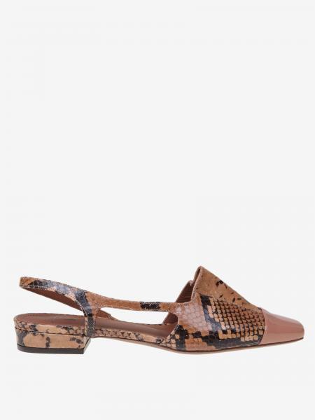 Sandales L'autre Chose en cuir imprimé python