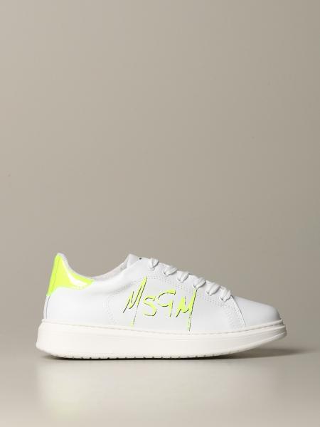 Msgm logo 真皮运动鞋