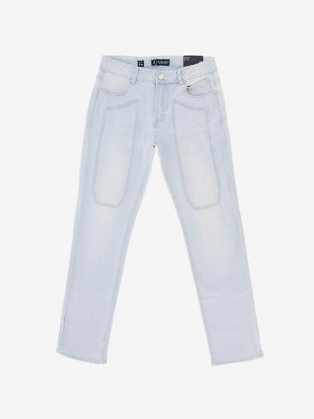 Pantalone Jeckerson in denim con toppe