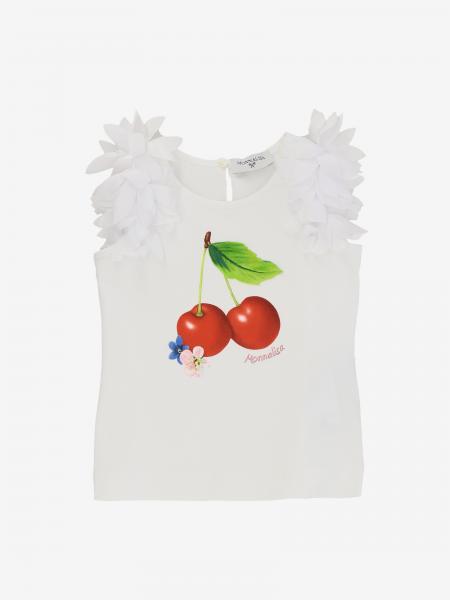 Monnalisa Baby T-Shirt mit Kirschen
