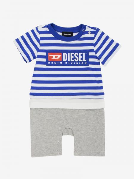 Diesel logo 短袖连体服