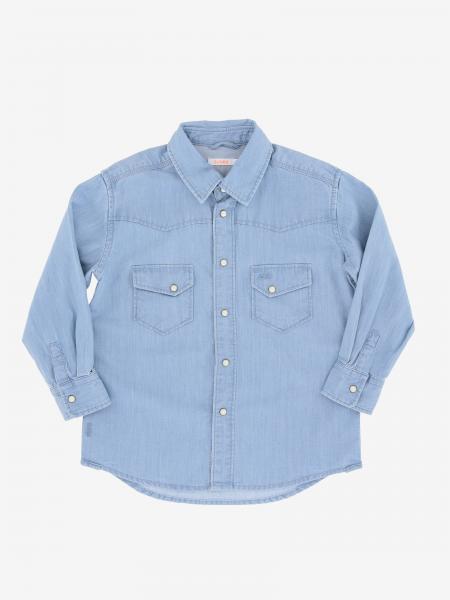 Camicia di jeans Sun 68 con tasche a toppe
