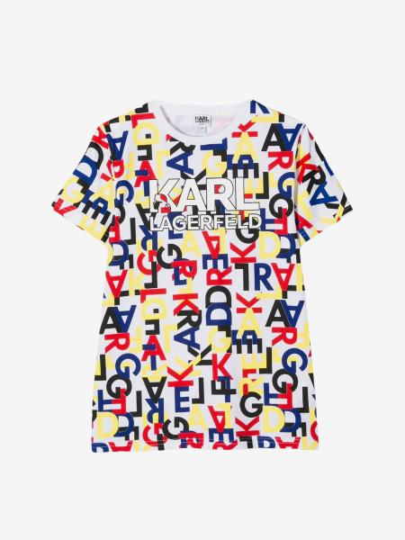 T-shirt Karl Lagerfeld Kids con stampa logo all over