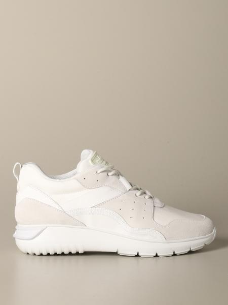 Hogan sneakers in suede leather and canvas