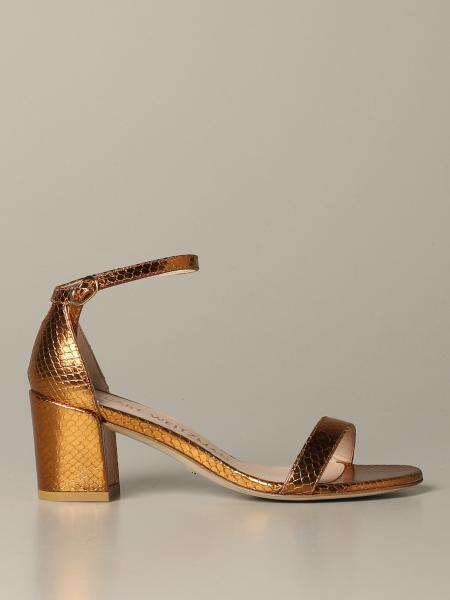 Sandalo Simple 10 Stuart Weitzman in pelle laminata