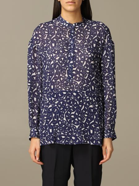 Dondup printed shirt with Korean collar