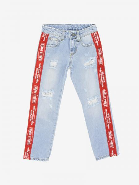 Gaelle Bonheur jeans with logoed bands