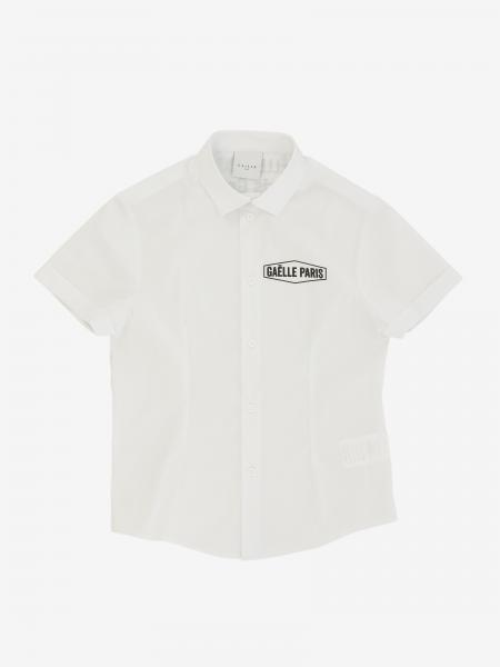 Gaelle Bonheur shirt with short sleeves and logo
