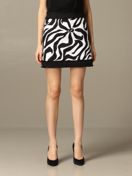 Jupe Boutique Moschino à motif stylisé