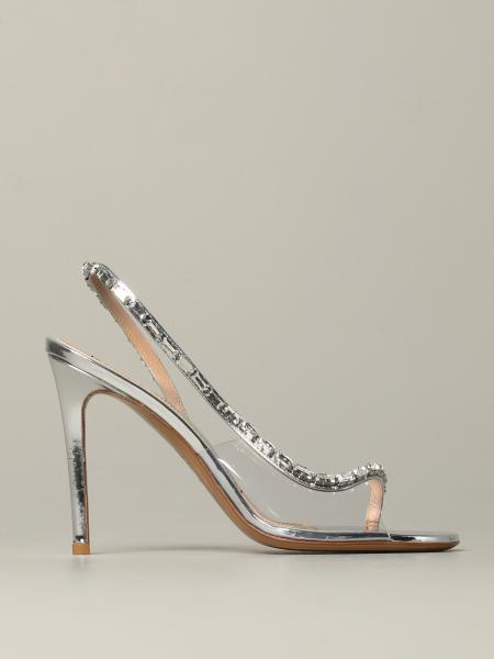 Heeled sandals alexandre vauthier elizabeth jewel sandal in laminated leather and pvc Alexandre Vauthier - Giglio.com