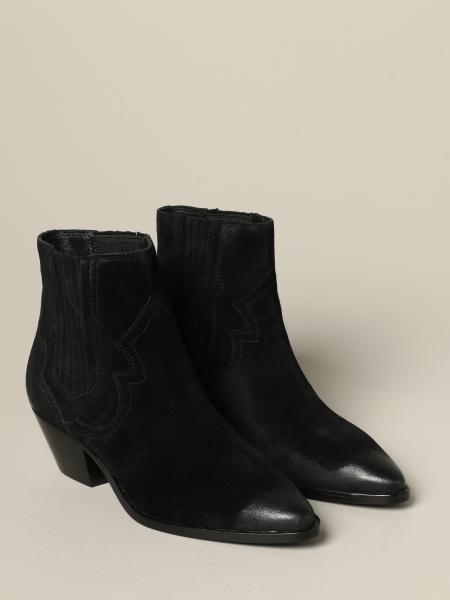 Ash Falcon suede ankle boot | Flat Booties Ash Women Black