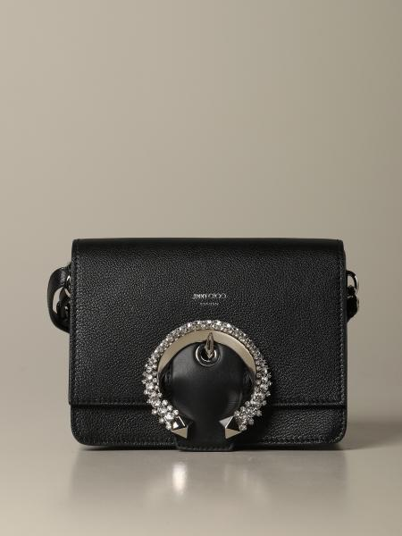 Madeline Jimmy Choo shoulder bag in leather with jewel buckle