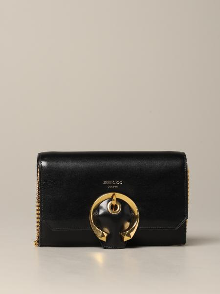 Jimmy Choo Madeline shoulder bags in leather with buckle