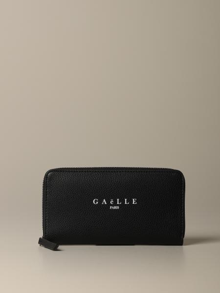 Portafoglio Gaelle Bonheur in pelle martellata con logo