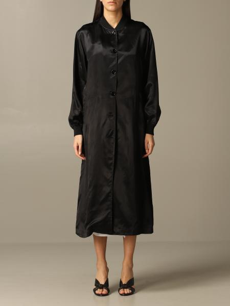 Manteau Mm6 Maison Margiela long avec écriture à l'arrière
