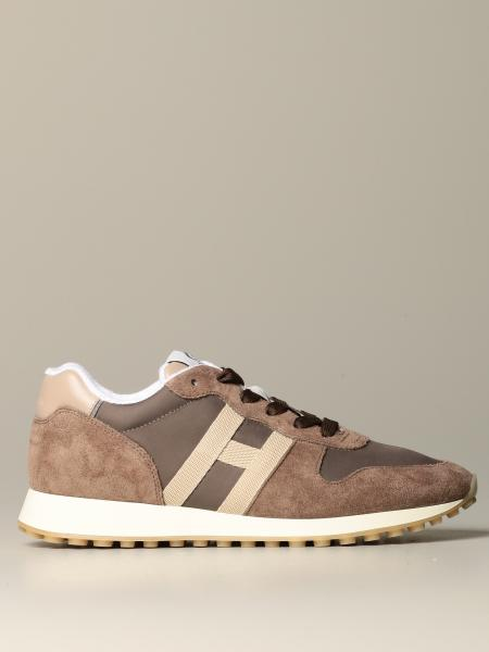 Hogan sneakers in canvas suede and leather