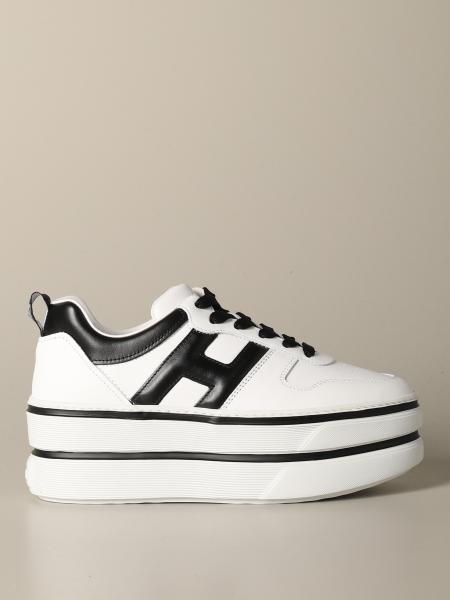 Hogan leather sneakers with contrasting H