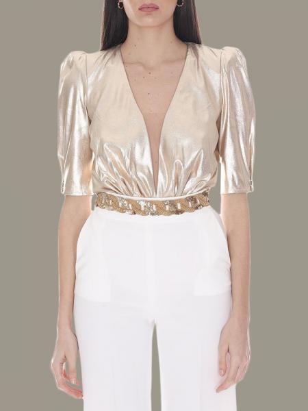 Elisabetta Franchi 珠宝链条金属感连体衣