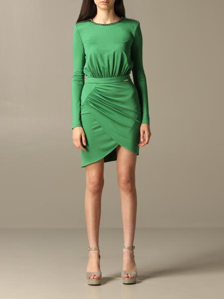 Robes robe elisabetta franchi avec chaînes en métal Elisabetta Franchi - Giglio.com