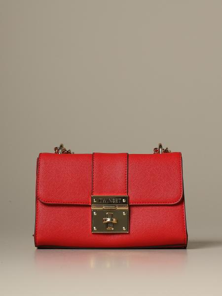 Twin-set shoulder bag in synthetic leather