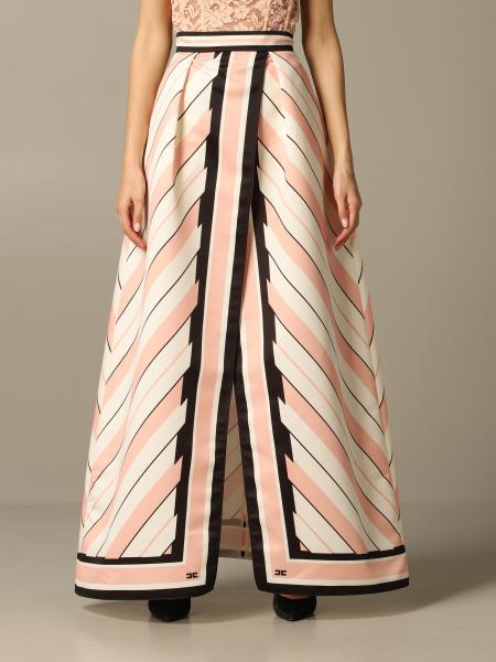 Jupe large Elisabetta Franchi avec imprimé foulard