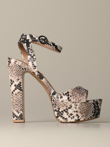 Steve Madden sandal in python print leather